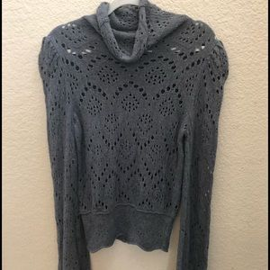 Free People charcoal gray pullover sweater Medium